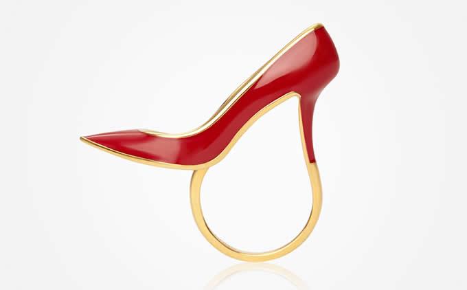 High Heel Shoe Ring