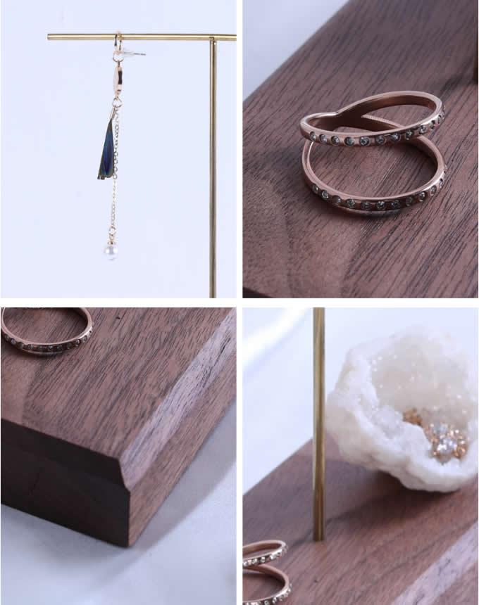 Modern Design Black walnut  Jewelry Tree Display Stands Organizer