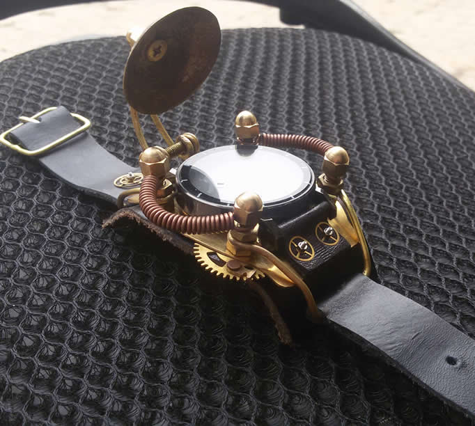 Retro Steampunk Gear Wristwatch