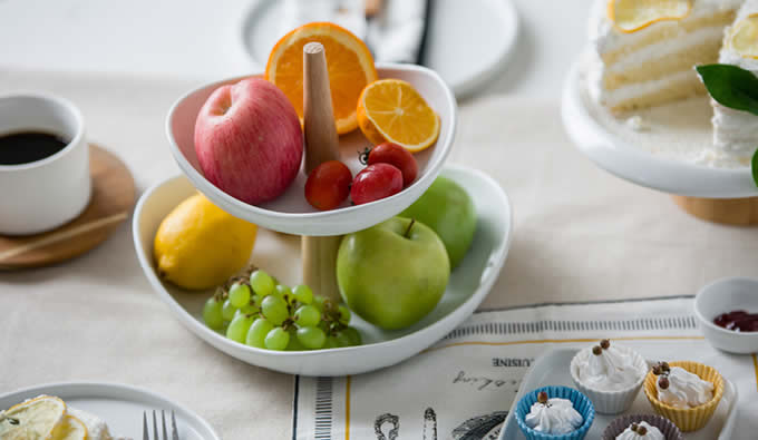 2-Tier Ceramics	 Fruit Bowl