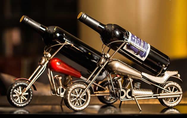 Classic Punk Style Harley Motorcycle Wine Rack Bottle Holder