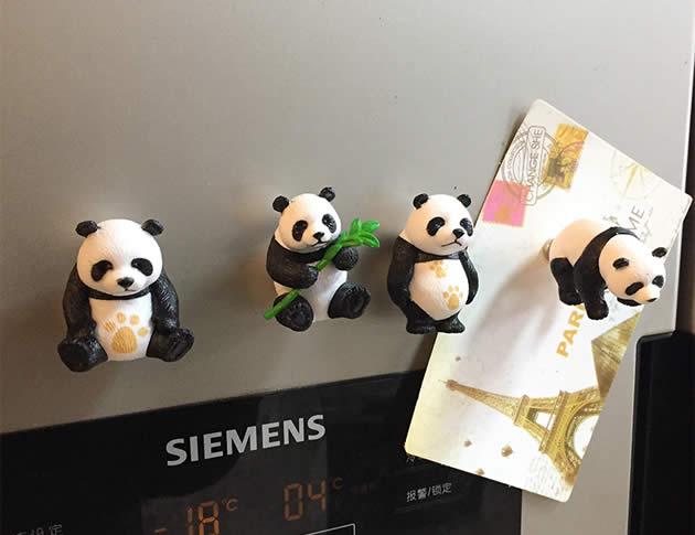 Cute Cartoon Panda Fridge Magnets,Set of 3