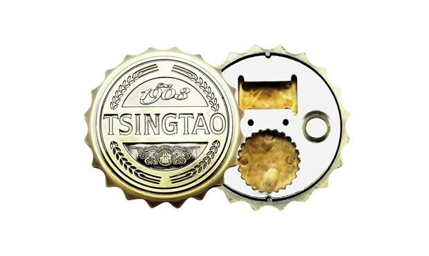 Fun kitchen beer cap bottle opener with refrigerator magnetic