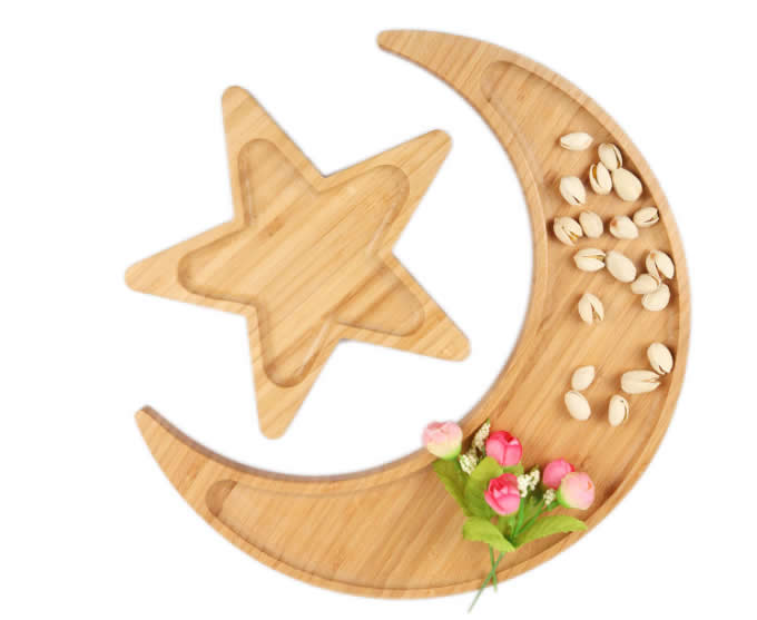 Bamboo Moon & Star Snack Nut Bowl