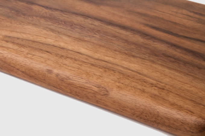 Black Walnut Wooden Serving Tray With Handles