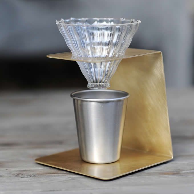 Brass Pour Over Drip Coffee Maker Dripper Stand