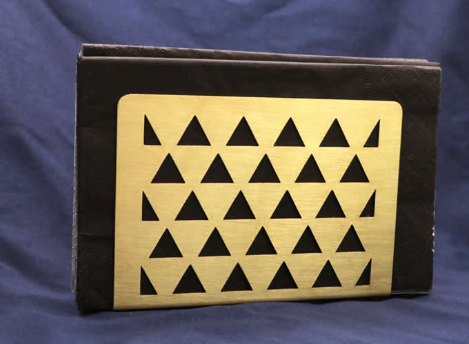 Brass Tissue Napkin Holder Stand Rack Vertical Box Caddy