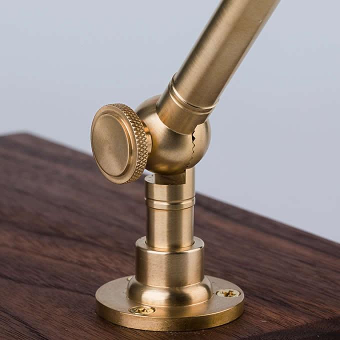 Brass & Wooden Pour Over Drip Coffee Maker Dripper Stand,Black Walnut Base