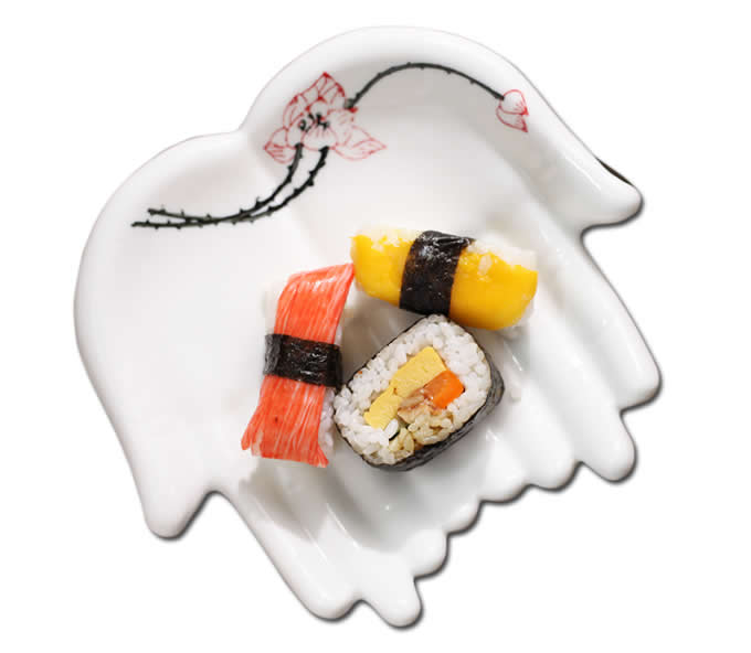 Ceramic Hand  Shaped Snack Plate