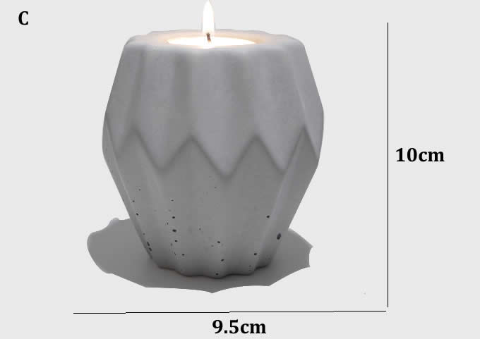 Handmade Concrete Candle Holder