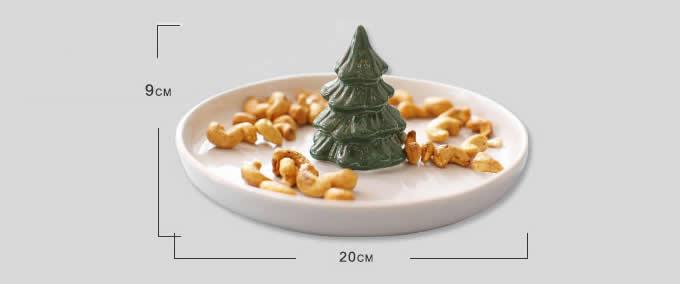 Christmas Tree Fruit Salad Nut Bowl Feelgift