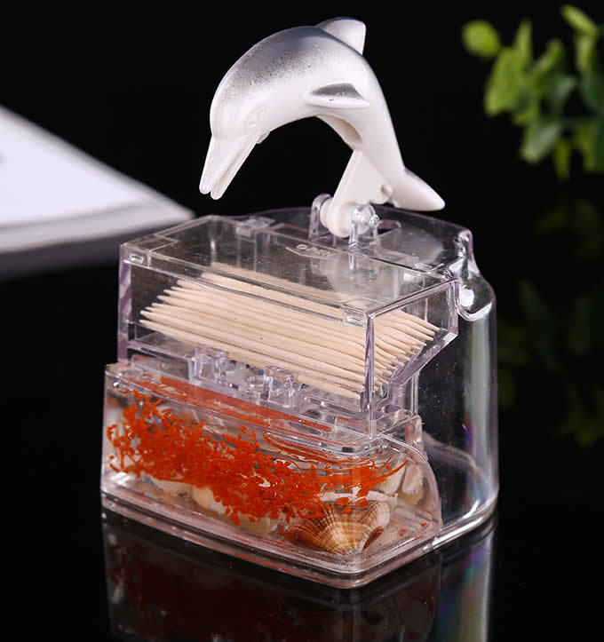 Dolphin Automatic Toothpick Holder Feelgift