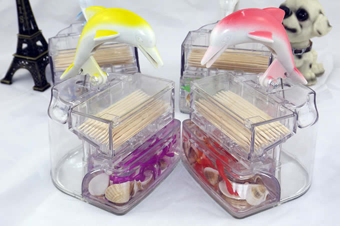 Dolphin Automatic Toothpick Holder