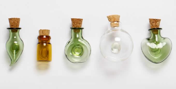 Glass Vase Fridge Magnets, Set of 6