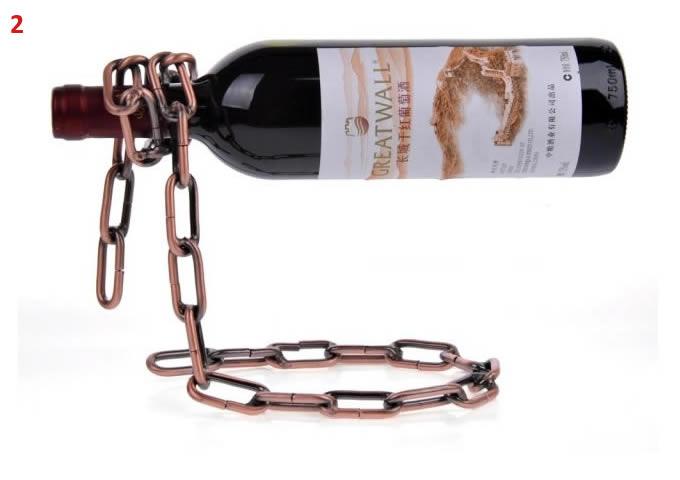 Magic Iron  Chain Floating Wine Bottle Holder