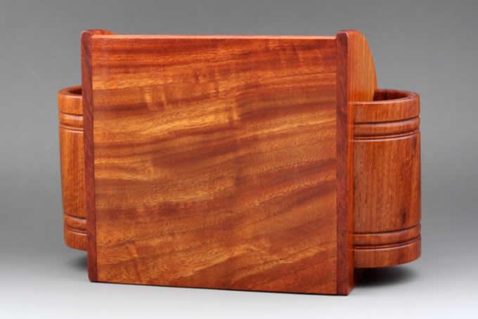 Multifunction Wood Pen Pencil Remote Control Plant Holder Desk Storage Box Container