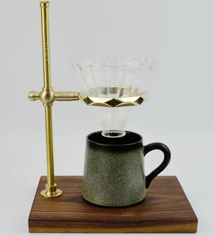 Pour Over Drip Coffee Maker Dripper Stand With Glass Dripper
