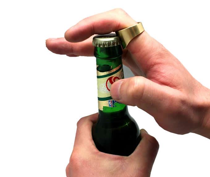 Brass Ring Bottle Opener