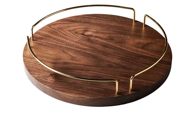 Black Walnut Wooden Serving and Butler Tray