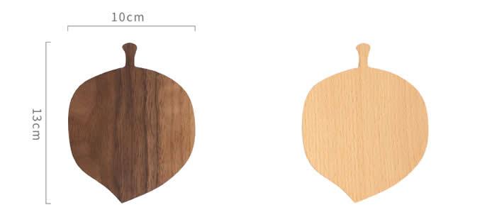 Wood Leaf Square Coaster