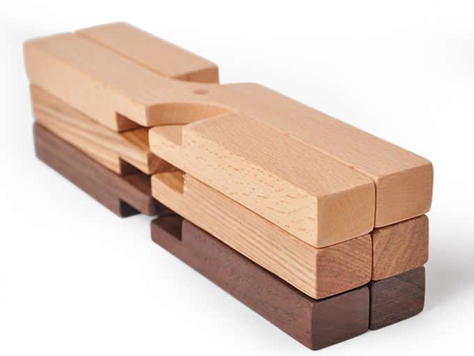 Wooden Fold Trivet Mat Hot Pot Holder Pads Set Of 2