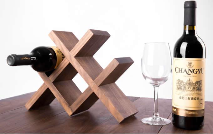 Wooden Wine Bottle Storage Rack