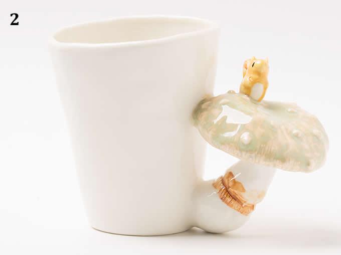 3D Mushroom Ceramic Cup