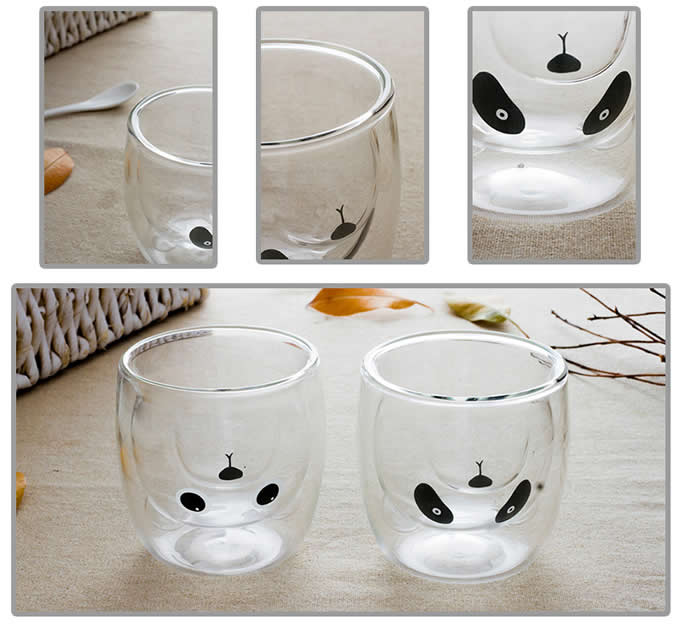 Animal Emoticons  Glass Coffee Cup