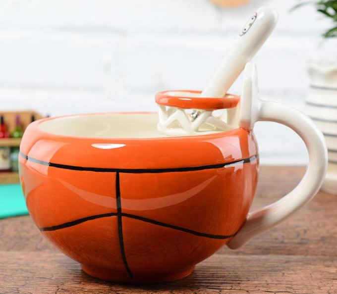Basketball & Football Ceramic Cup