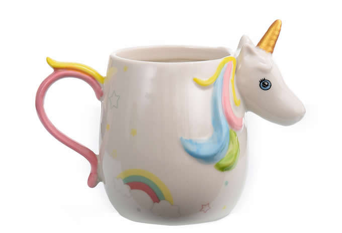 Ceramic 3D Unicorn Coffee Mug