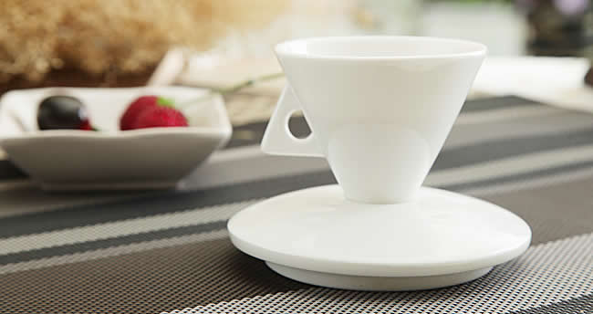 Ceramic Cone Coffee Mug Set Of 2 Feelgift