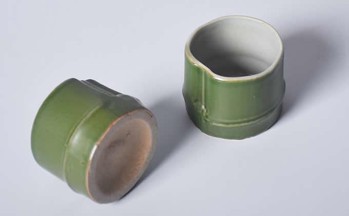 Ceramic Green Bamboo Shape Water Mug