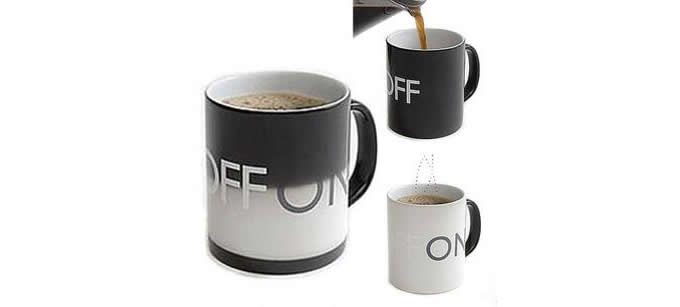 Color Change ON OFF Ceramic Coffee  Mug