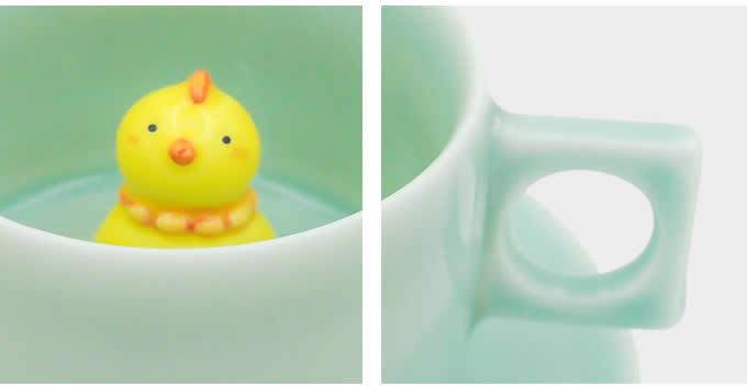 Cute Chicken Figurine Ceramic Coffee Cup