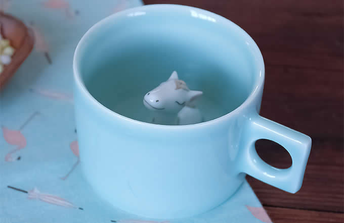 Cute Horse Figurine Ceramic Coffee Cup