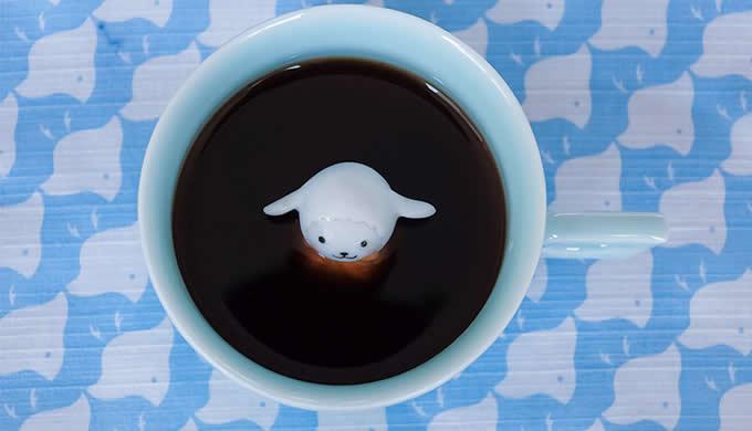 Cute Lamb  Figurine Ceramic Coffee Cup