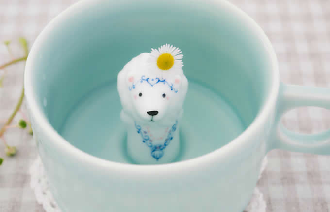 Cute Lion  Figurine Ceramic Coffee Cup
