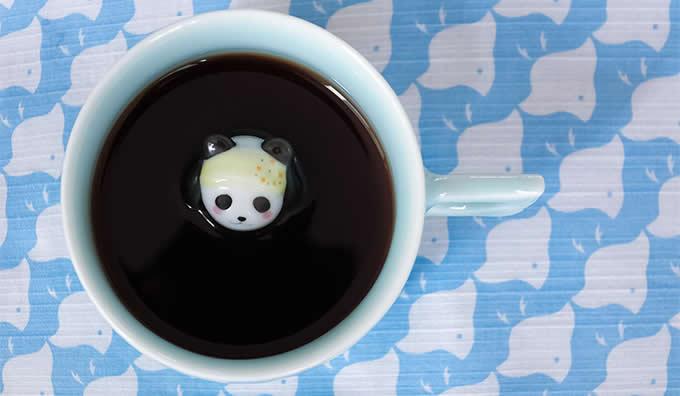 Cute Panda Figurine Ceramic Coffee Cup