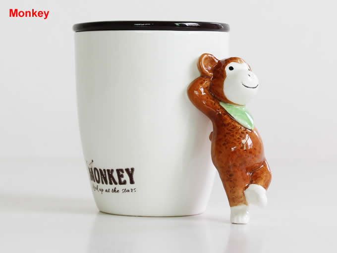Hand-painted 3D  Animal Ceramic Coffee Cup Mug