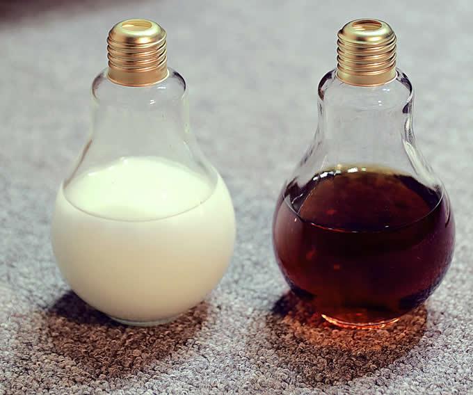 Light Bulb Drinking Glass Bottles Feelgift