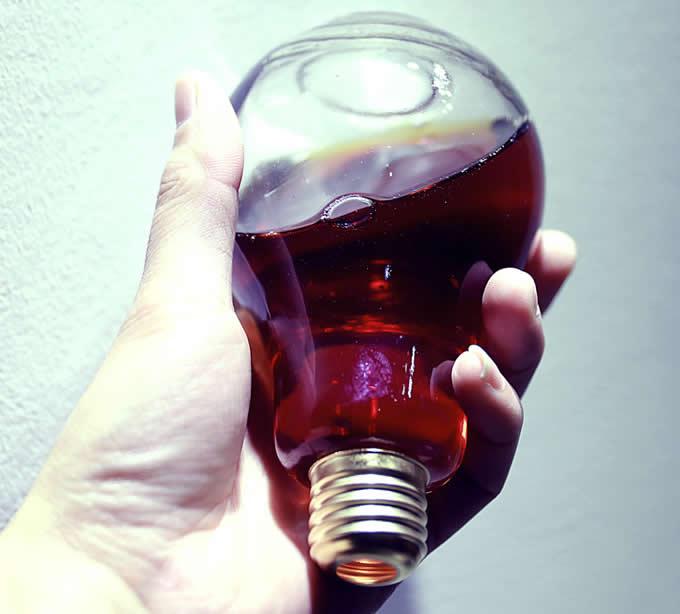 Light Bulb Drinking Glass Bottles