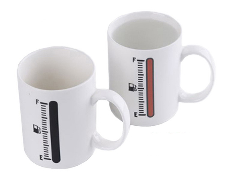 Magic Thermometer Color Changing Ceramic Coffee Mug Feelgift