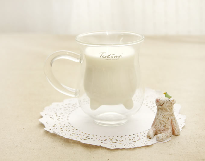 Mini Cow Udder Shaped Cute Pitcher Milk Glass Cup