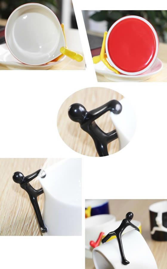 Novelty Climbing Man Coffee Cup