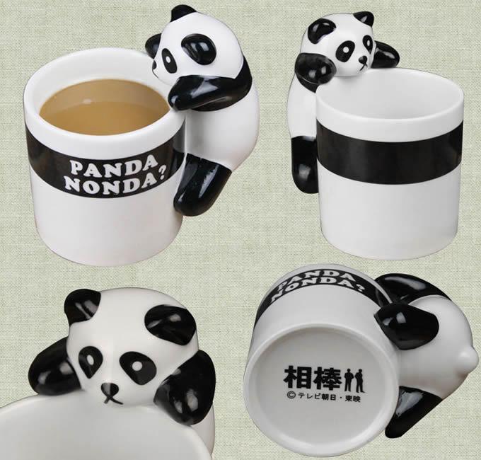 Novelty Climbing Panda Coffee Cup