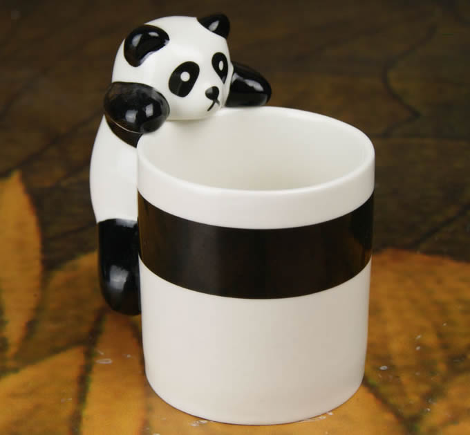 novelty climbing panda coffee cup feelgift