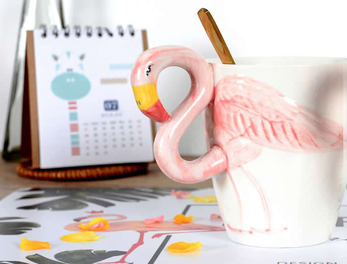 Phoenicopteridae Ceramic Coffee Cup,Pink