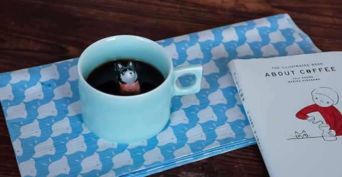 Siberian Husky Figurine Ceramic Coffee Cup