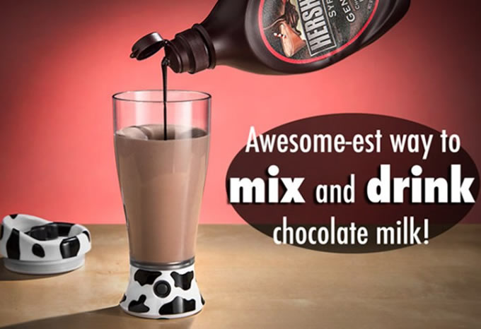 Skinny Moo Chocolate  Milk Mixing Cup