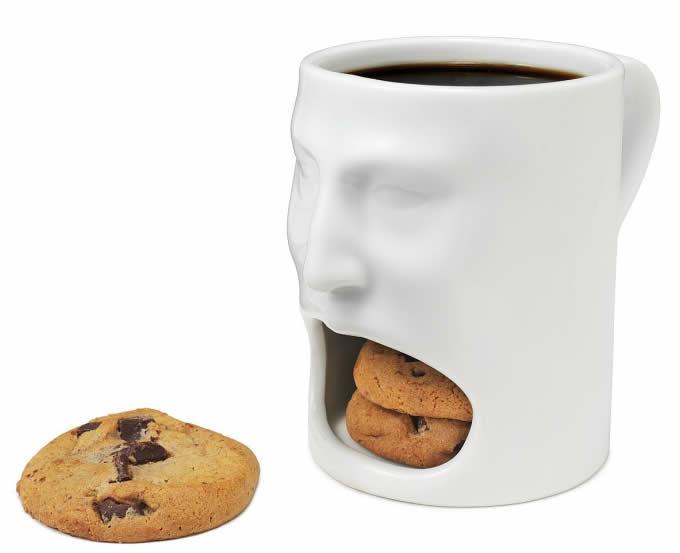 Skull Cookie Holder Coffee Mug